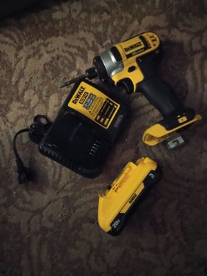 Used 1 time dewalt 20v impact with the battery pack and charger for Sale in Waterloo, IN