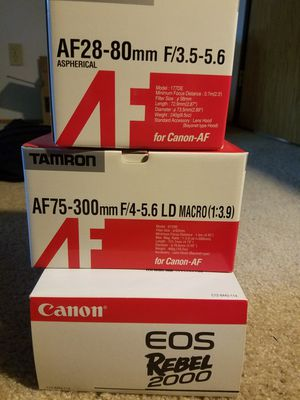 Canon Rebel EOS 2000 and lenses for Sale in Bellevue, WA