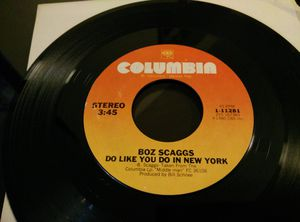 Vintage 1980 Vinyl Boz Scaggs JoJo/Do like you do in the New York for Sale in Everett, WA