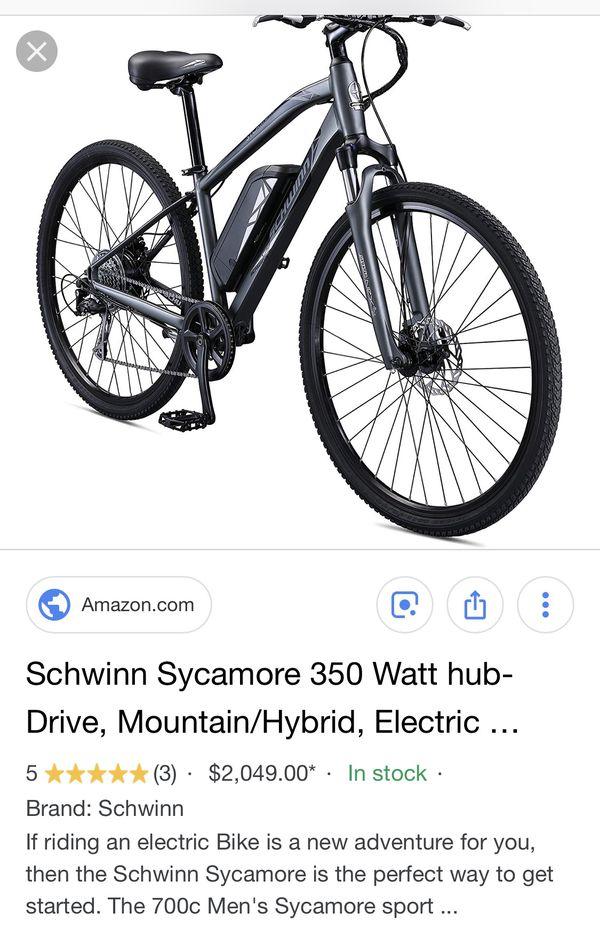 Schwinn Sycamore E Bike Size Medium NEW MSRP $2049 00 for Sale in  Calabasas, CA - OfferUp