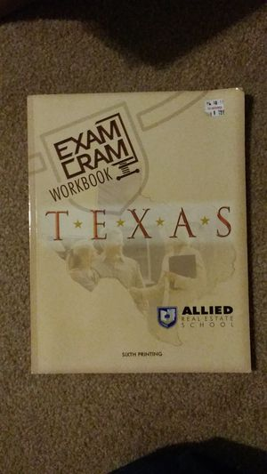 Allied. Texas Real Estate Exam Prep book, 2016 edition for Sale in DeSoto, TX