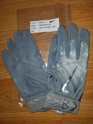 Brand New Nike Huarache Elite Cool Grey/Wolf Grey Baseball Batting gloves Adult Large for Sale in West Covina, CA