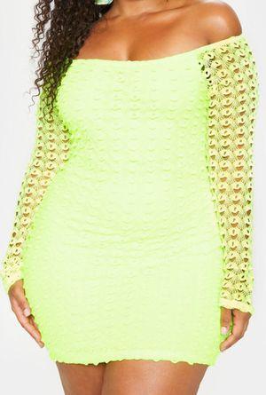 Neon Yellow Crochet Bardot Dress for Sale in Philadelphia, PA