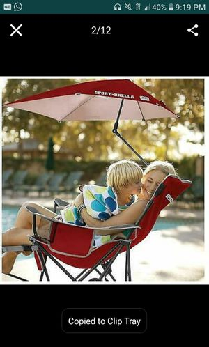 Sport-Brella, Recliner CHAIR REMOVABLE UMBRELLA and Footrest, 3-Position for Sale in Miami Beach, FL