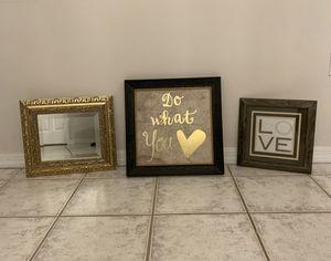 Wall art/framed mirror for Sale in Tamarac, FL