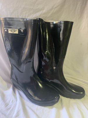 Never worn FY Black Rain Boots Women's Size 10 for Sale in Fremont, CA