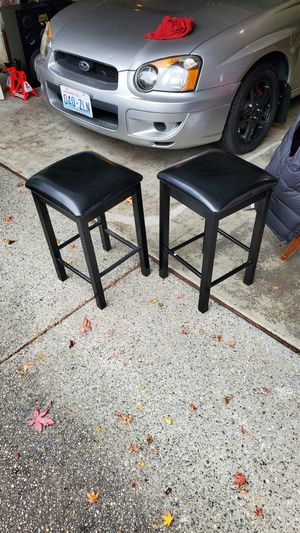 Two small black stools for Sale in Bellevue, WA