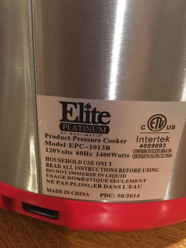 Like-New, Elite Platinum 10Qt  Digital Pressure Cooker (Model EPC-1013R)  for Sale in Lake Stevens, WA - OfferUp