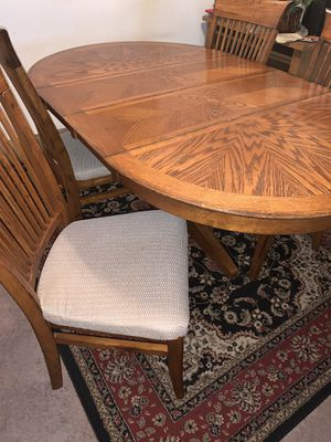 Wood Dining Table for Sale in Greensboro, NC