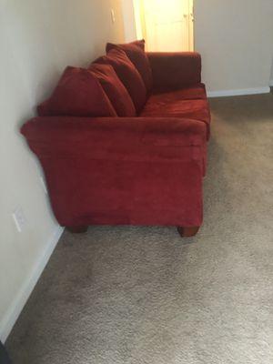 Red sofa couch for Sale in Marietta, GA