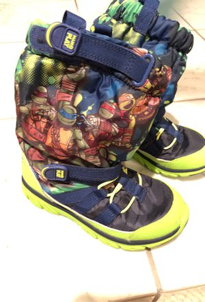 Ninja Turtles Stride Rite snow boots size 13m kids for Sale in San Jose, CA