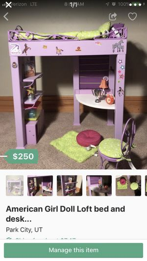 American Girl Doll Loft Bed with all accessories... for Sale in Park City, UT
