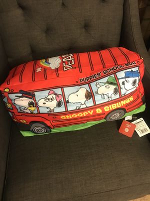 SNOOPY SCHOOL BUS PLUSHY / NEW for Sale in Ontario, CA