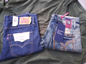 $$70$$ for both!!! Mens levis and Demolition jeans 36 34s for Sale in San Diego, CA