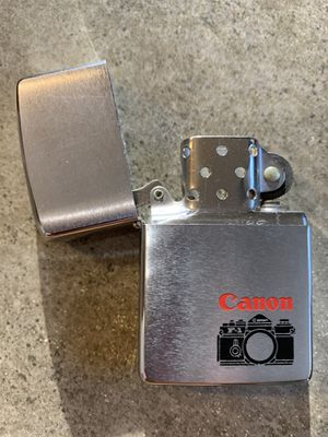 Zippo lighter, canon photography for Sale in Bloomingdale, IL