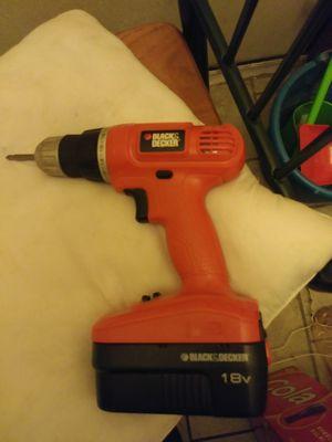 Black & Decker cordless drill for Sale in Terre Haute, IN