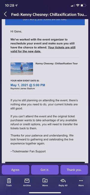 Kenny Chesney tixs for Sale in Wildwood, FL