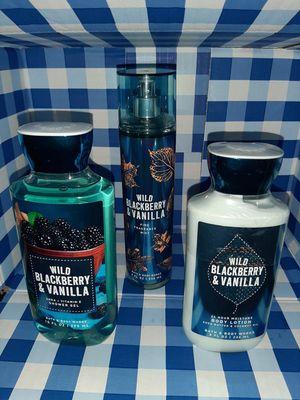 Bath and body works wild BlackBerry and vanilla for Sale in Spokane, WA
