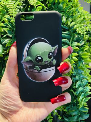 Brand new cool iphone 6, 6s REGULAR case cover rubber silicone baby yoda Star Wars hype cool mens guys kids for Sale in San Bernardino, CA
