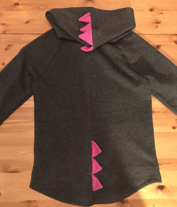 Super CUTE Girls Monster Dinosaur Plates Jacket Hoodie Halloween Size 10/12