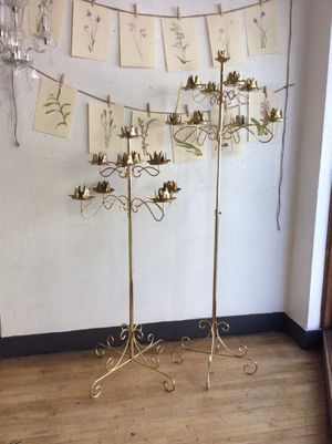 Pair of Vintage Standing Candelabras for Sale in Tacoma, WA