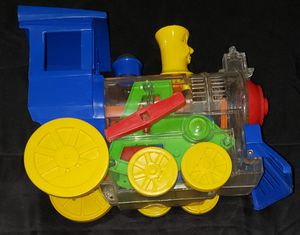 Vintage Think and Learn Toy Toot Loo Whistling Train Clear Engine Collectible for Sale in Dallas, TX