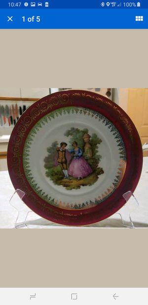 Vintage Porcelaine Artistique Limoges France 9in Plate victorian scene for Sale in Milford, CT