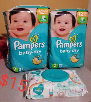 Pampers diapers and wipes bundle for Sale in Gastonia, NC