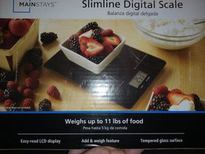 Brand NEW Mainstays Slimline Digital Kitchen Scale for Sale in Lynchburg, VA