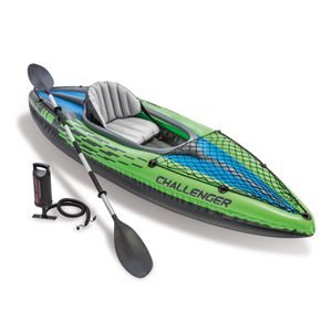 Intex Challenger K1 Inflatable Kayak with Oar and Hand Pump for Sale in Ontario, CA