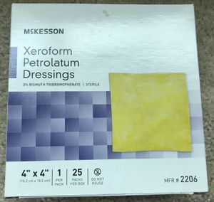 "Lot of 15 McKesson 2206 Xeroform Petrolatum Gauze Dressing 4"" Width x 4"" Length for Sale in Chicago, IL"