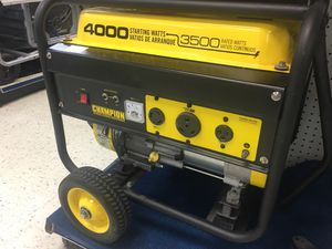 Champion Global Power Gas Powered Generator: 4000 Watts for Sale in Clearwater, FL