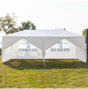 10x 20ft Heavy Duty Party Tent PE Gazebo Wedding Canopy w/4 Removable Wall White for Sale in Gresham, OR