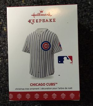 Brand new Hallmark Chicago Cubs jersey Christmas ornament for Sale in Stickney, IL
