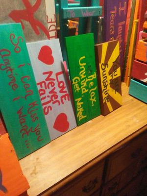 Handmade wood signs with sayings for Sale in Clanton, AL