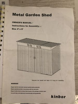 Metal Garden Shed 4'x6' for Sale in Holmes Beach, FL