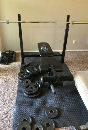 Bench press set for Sale in Tyler, TX