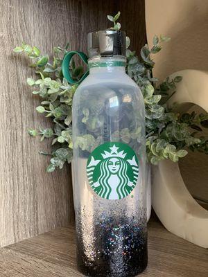 Black glitter Starbucks water bottle for Sale in Gilroy, CA