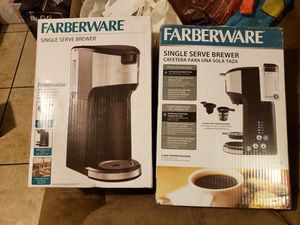 FARBERWARE SINGLE SERVE BREWER I HAVE 2 $20 EACH for Sale in Moreno Valley, CA