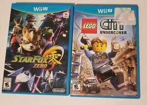 Star Fox Zero + Lego city undercover (Nintendo Wii U) for Sale in Spring Grove, IL