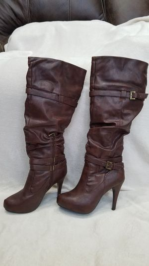 Women's Anne Michelle brown knee high boots, size 9 for Sale in Ithaca, NY