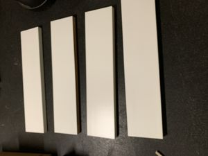 4 white wall or closet shelves -excellent condition for Sale in Tracy, CA