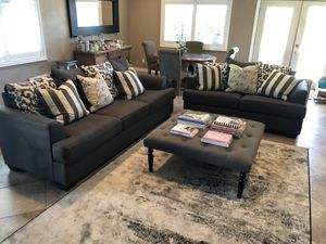 Charcoal Ashley Upholstered Sofa Couch and LoveSeat for Sale in US