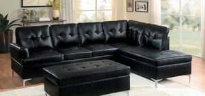 Sectional available in Black, Brown or Grey for Sale in Salt Lake City, UT