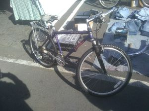 Trek 850 mountain track bike with suspension and cargo rack for Sale in Richmond, CA