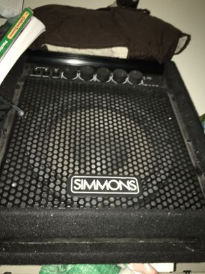 Simmons speaker with drum set kit complete set with chair for Sale in San Pablo, CA