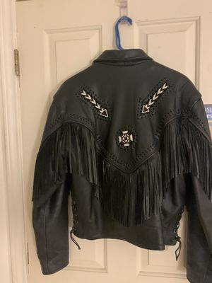 Ladies Leather Motorcycle jacket- Size 14 for Sale in Austin, TX
