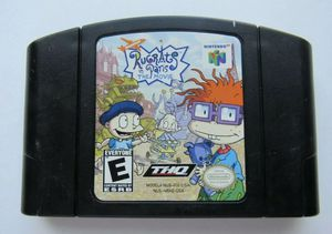 CLASSIC !!!!! GOOD Rugrats in Paris The Movie Nintendo 64 N64 Video Game Retro Kids Super Fun for Sale in Lowellville, OH
