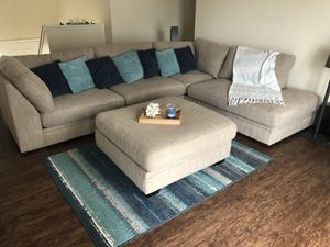 2-Piece Sectional w/ Oversized Ottoman from Ashley Furniture for Sale in Wahneta, FL