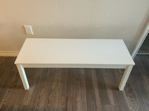 Table bench white for Sale in Austin, TX